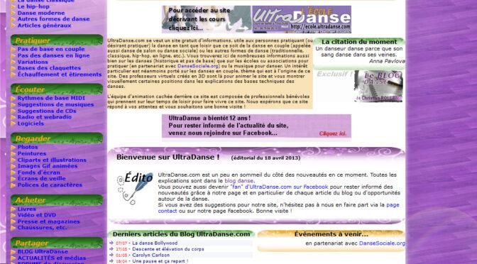 Genèse d'UltraDanse .fr/.com